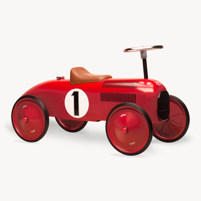 Vintage Ride-On Metal Car (Red)