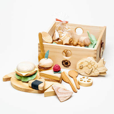 Wooden Food Prep Box