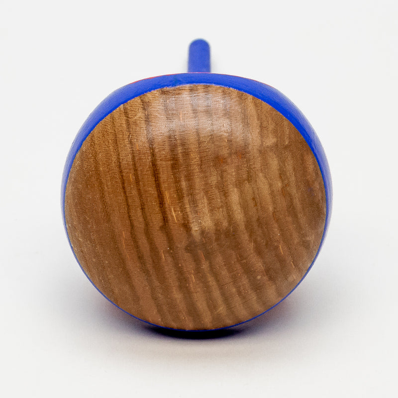 Mountain Peak Transparent Wooden Spinning Top