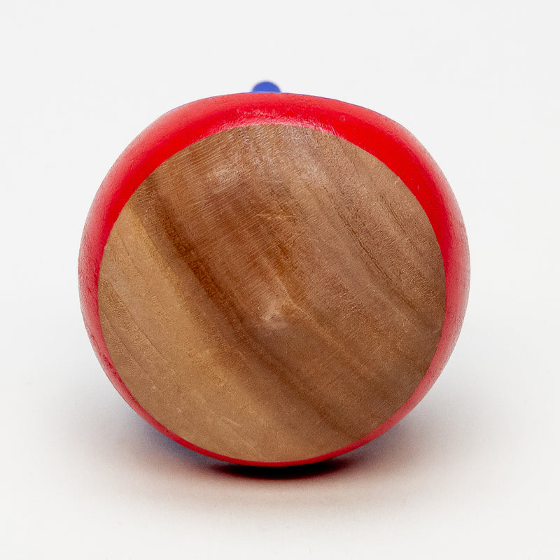 Blazing Mountain Sunset Transparent Wooden Spinning Top