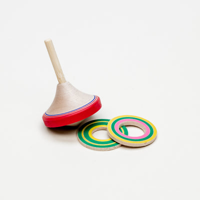 3D Spinning Top With Multi-Color Rings
