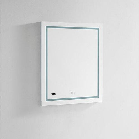 "Daytona Wall Mounted LED Lighted Silver Mirror for Bathroom, 3D, Triple Color Temperature Lighting, Digital Clock, Automatic Defogger, Dimmer, Touch Screen Buttons 24"" x 30"" x 5"""