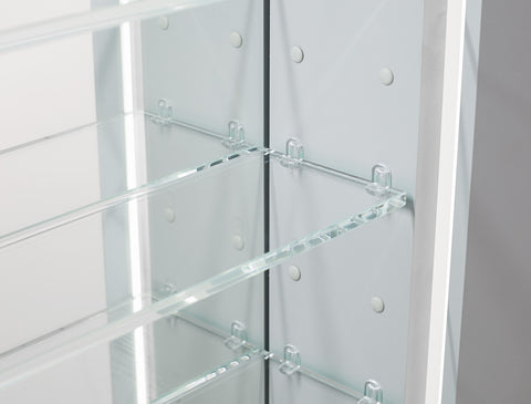 "Image of Pacifica LED Mirror Glass Medicine Cabinet for Bathroom Whit Outlet and Touch Screen Button 20"" x 26"" x 5"""