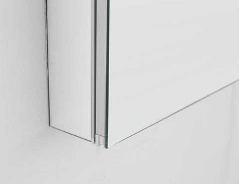 "Pacifica LED Mirror Glass Medicine Cabinet for Bathroom Whit Outlet and Touch Screen Button 20"" x 26"" x 5"""