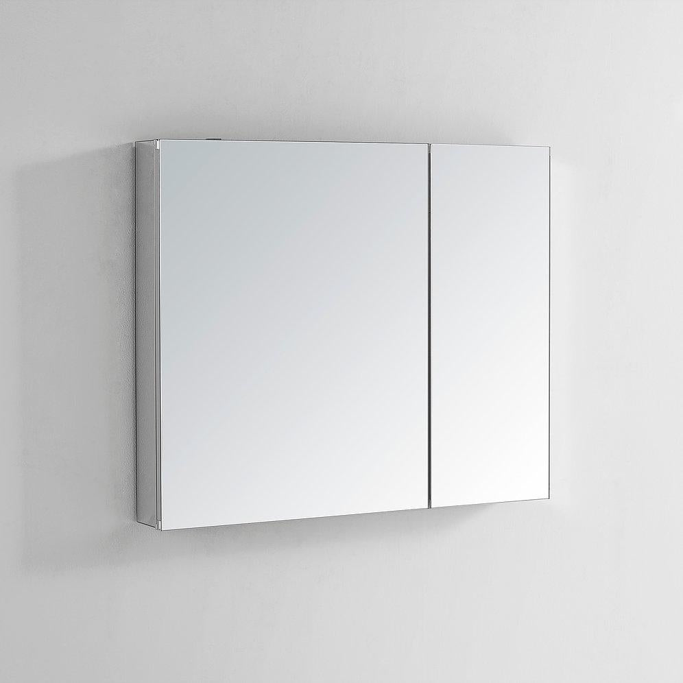 "Royale Medicine Mirror Glass Cabinet for Bathroom 36"" x 30"" x 1.5"""