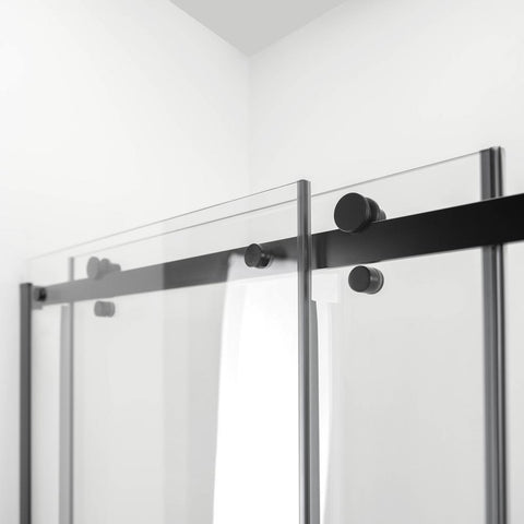 Image of Primo 8mm Tempered Glass Sliding Shower Door with Bar Handle