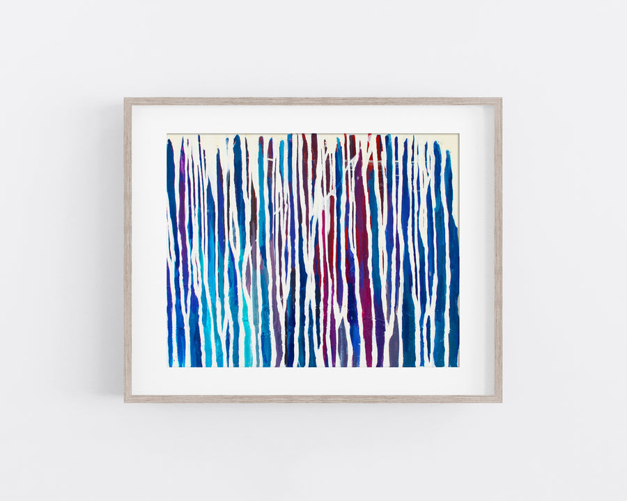 Between Winter Lines - Art Print