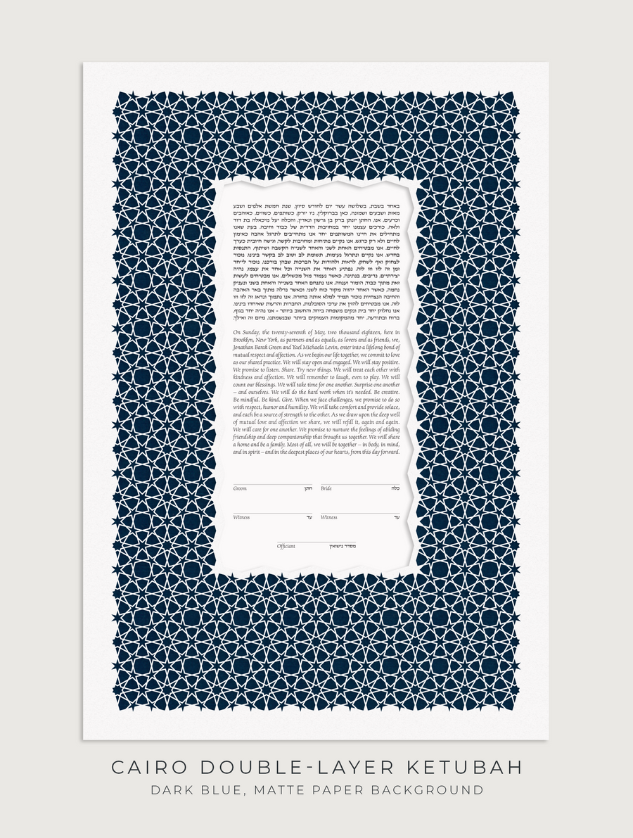 CAIRO DOUBLE-LAYER, Dark Blue, Matte Paper
