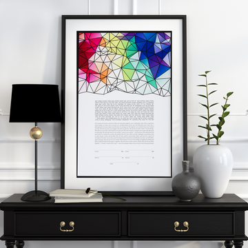 Clarity Multilayer, black, framed