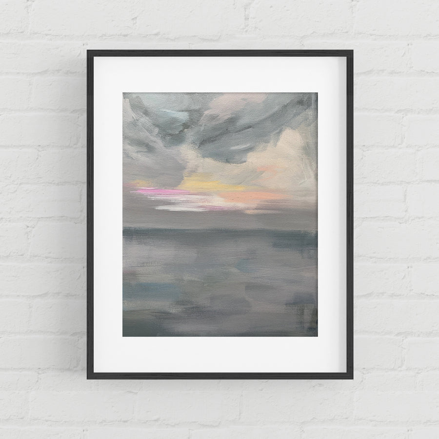 Fog At The Beach - Art Print