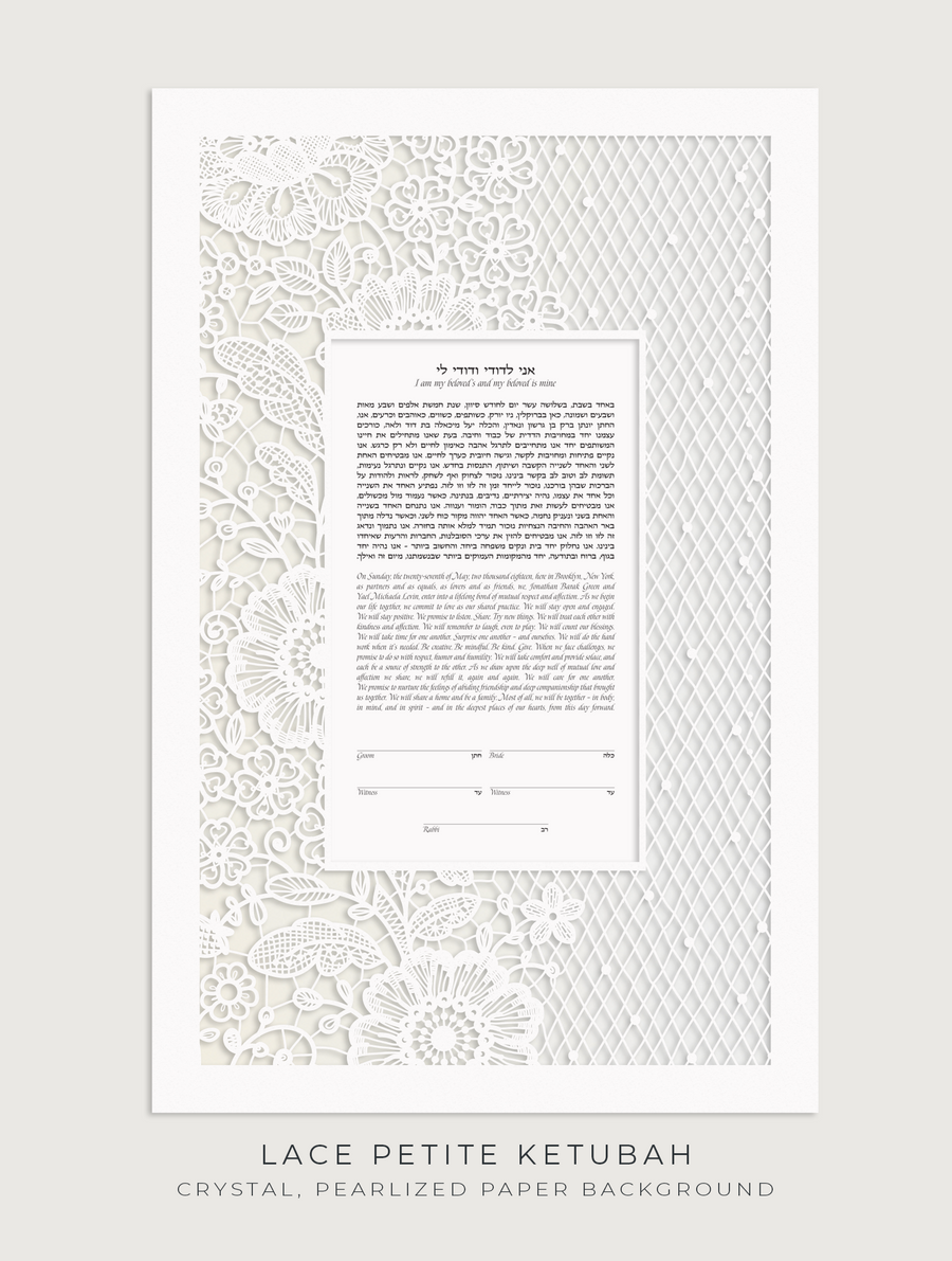 LACE PETITE, Crystal, Pearlized Paper