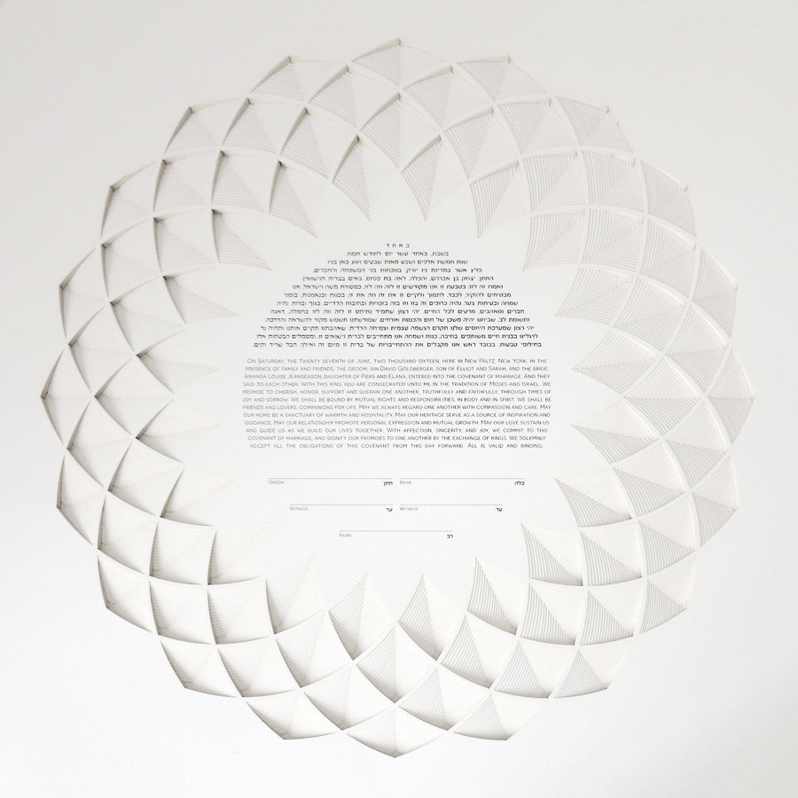 Lotus 18 Layer Ketubah
