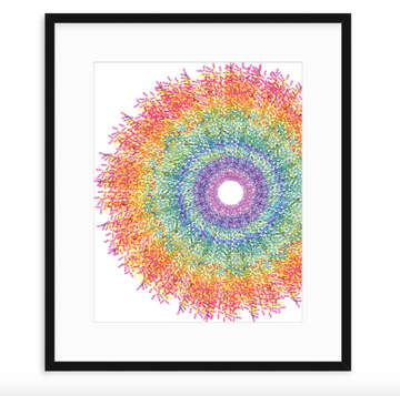 Love Spiral - Framed Print