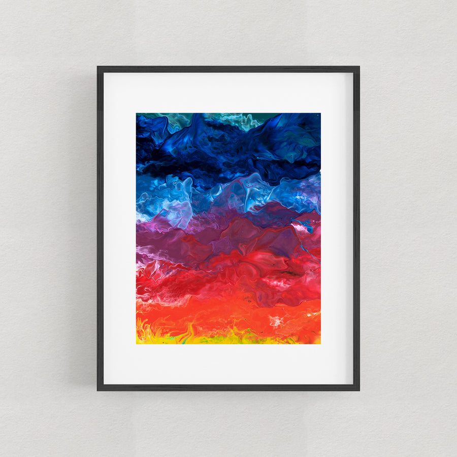 My Words Did Glow To Look Upon My Face - Art Print
