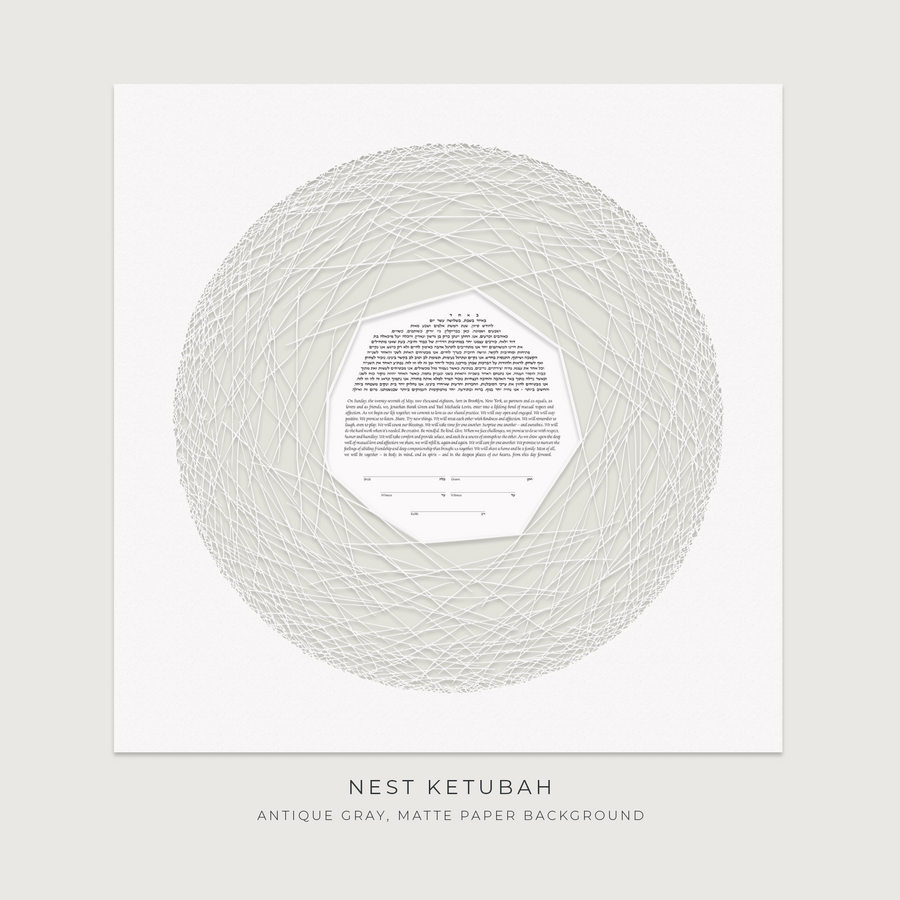 NEST, Antique Gray, Matte Paper