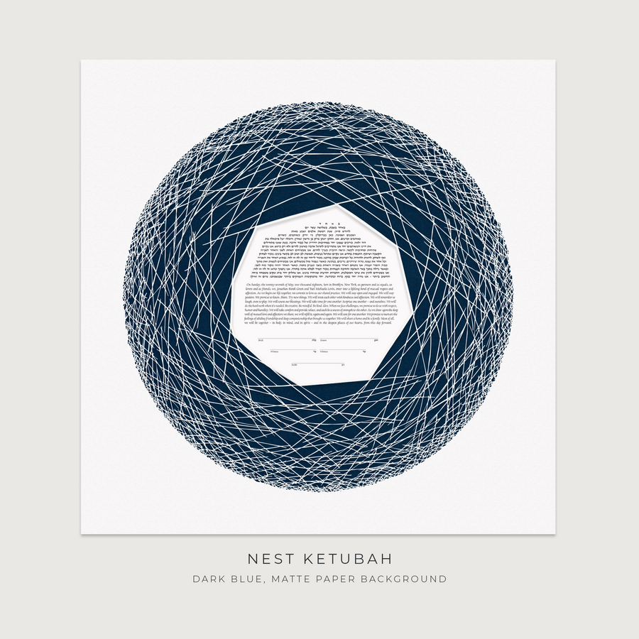 NEST, Dark Blue, Matte Paper