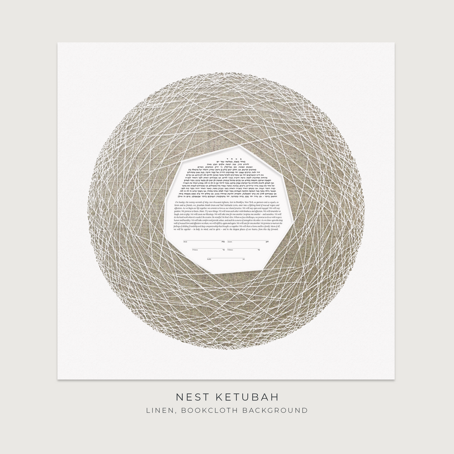 NEST, Linen, Bookcloth