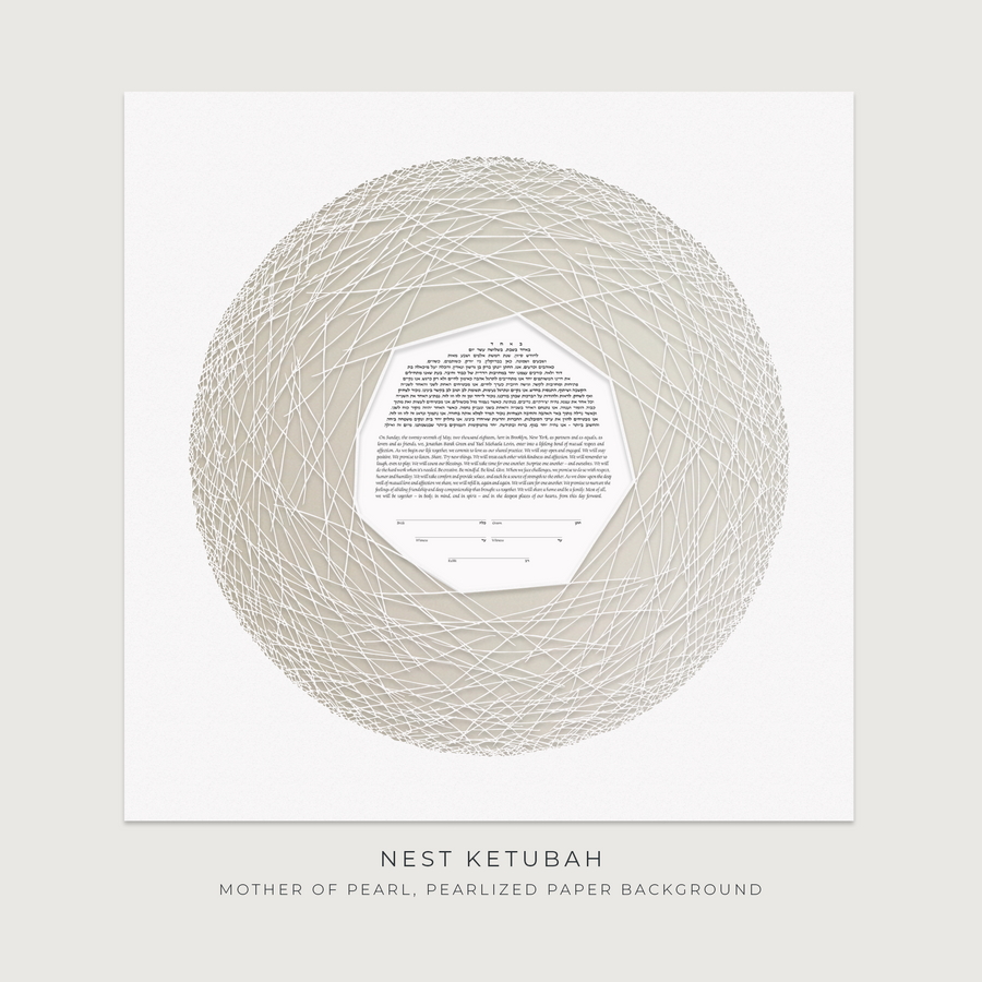 NEST, Mother of Pearl, Pearlized Paper