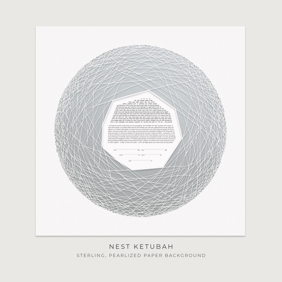 NEST, Sterling, Pearlized Paper