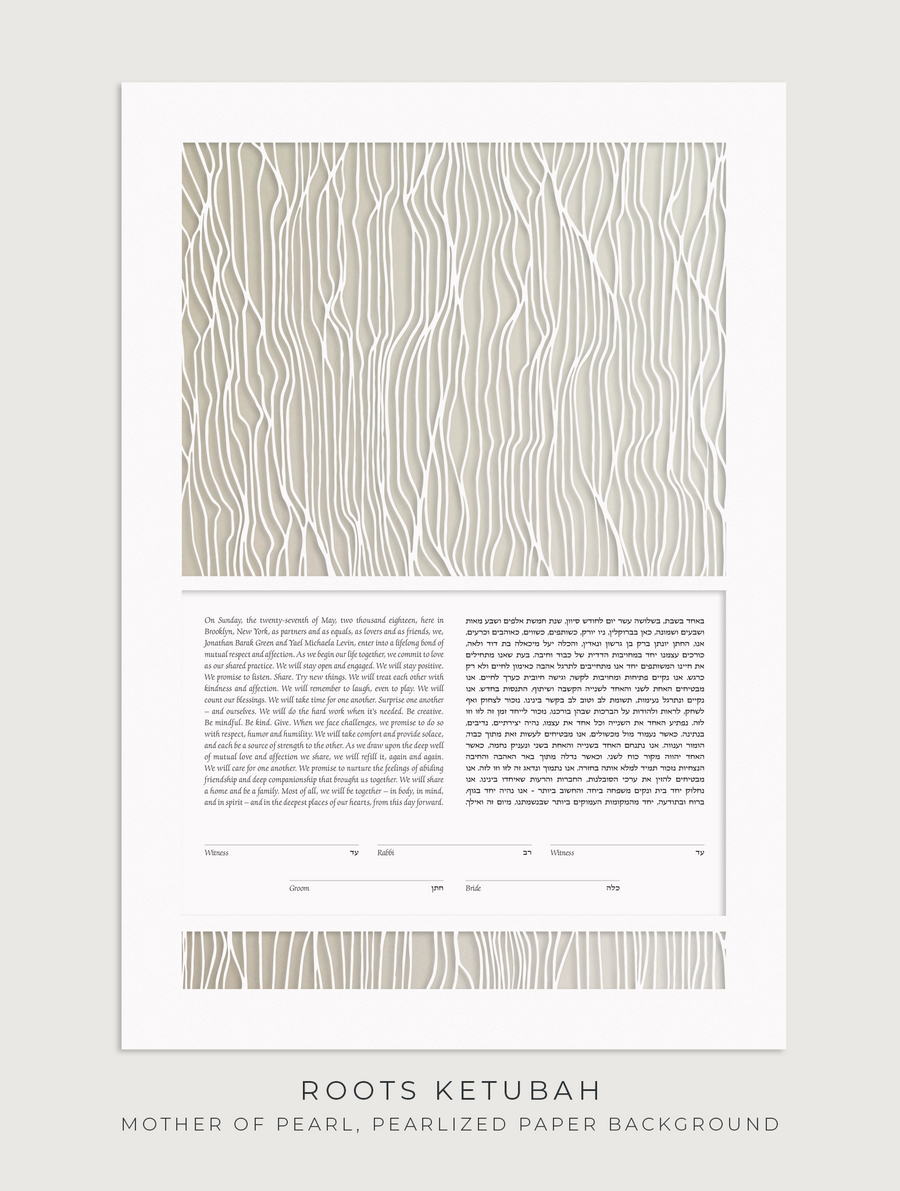 ROOTS, Mother of Pearl, Pearlized Paper