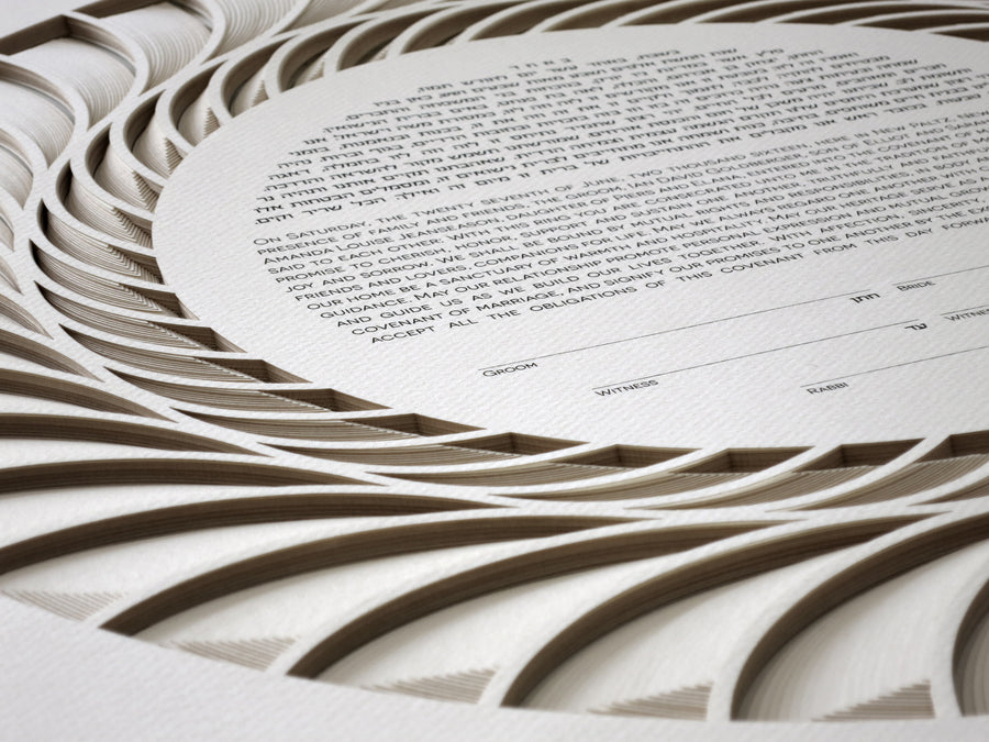Regal - 18 Layers Ketubah detail
