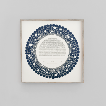 RINGS, Dark Blue, Matte Paper, framed