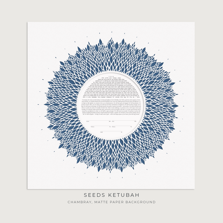 SEEDS, Chambray, Matte Paper