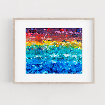 Splintered Sunlight Mosaic - Art Print