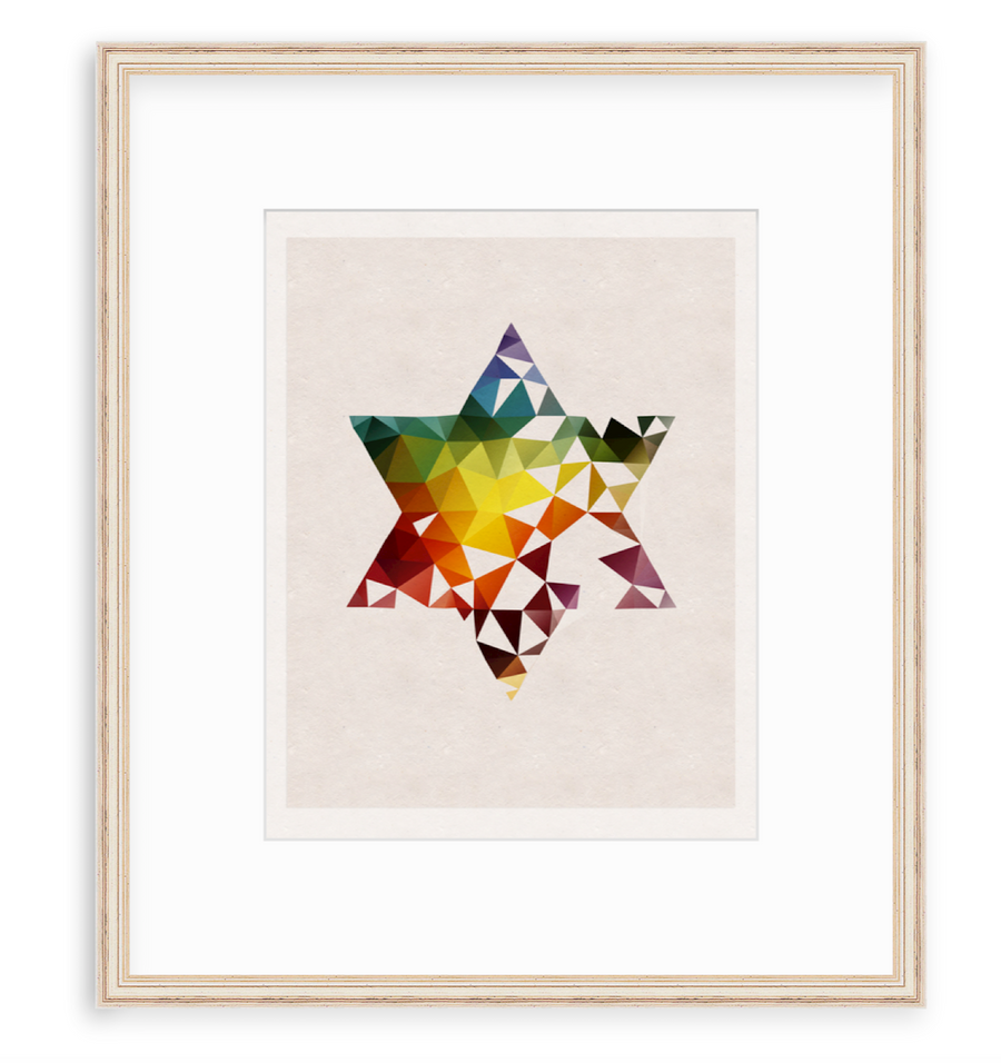 Star Of David - Art Print