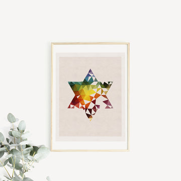 Star of David, framed