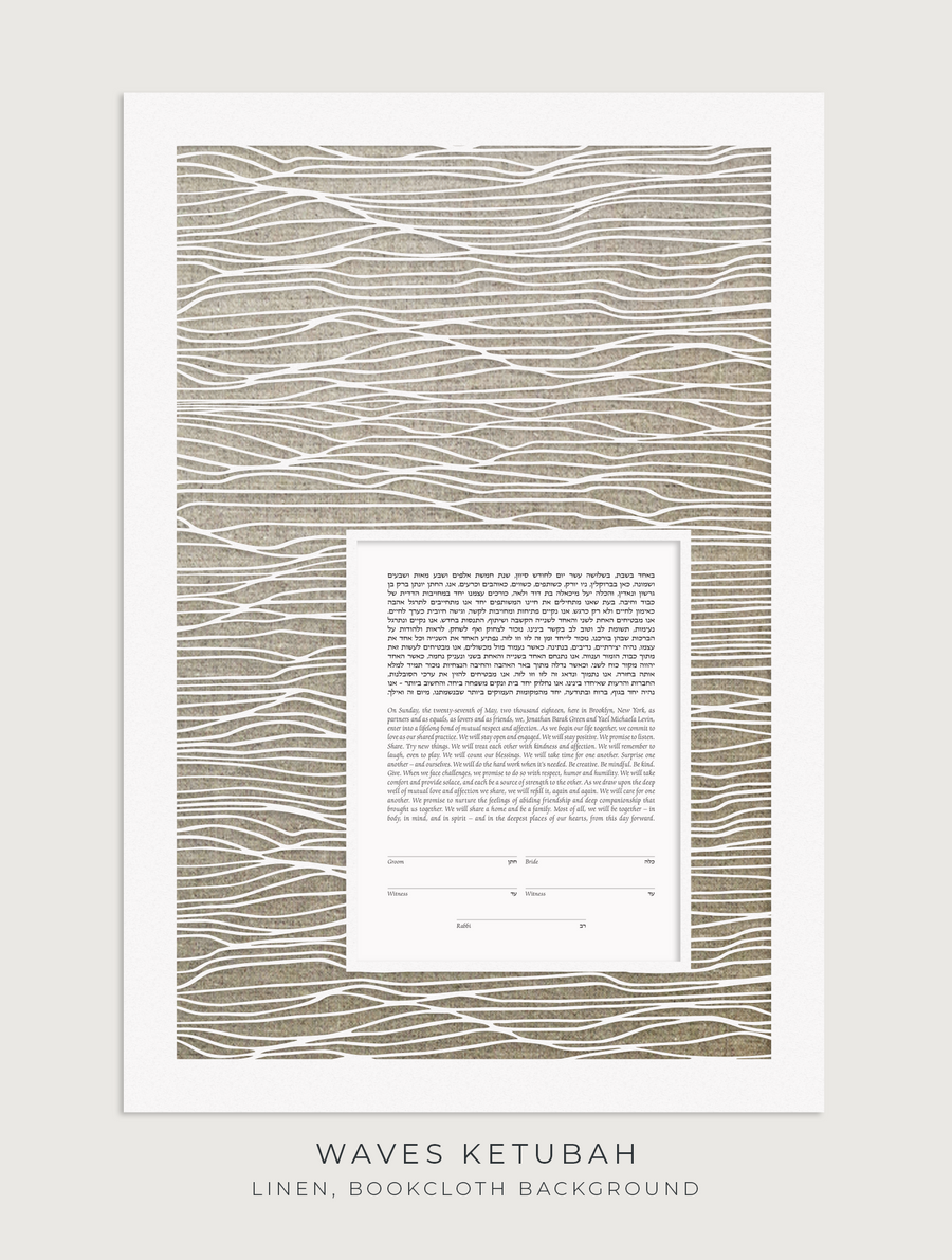 WAVES, Linen, Bookcloth