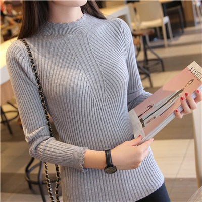 Sweaters And Pullovers Solid Color - Gray / One Size