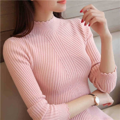 Sweaters And Pullovers Solid Color - Pink / One Size