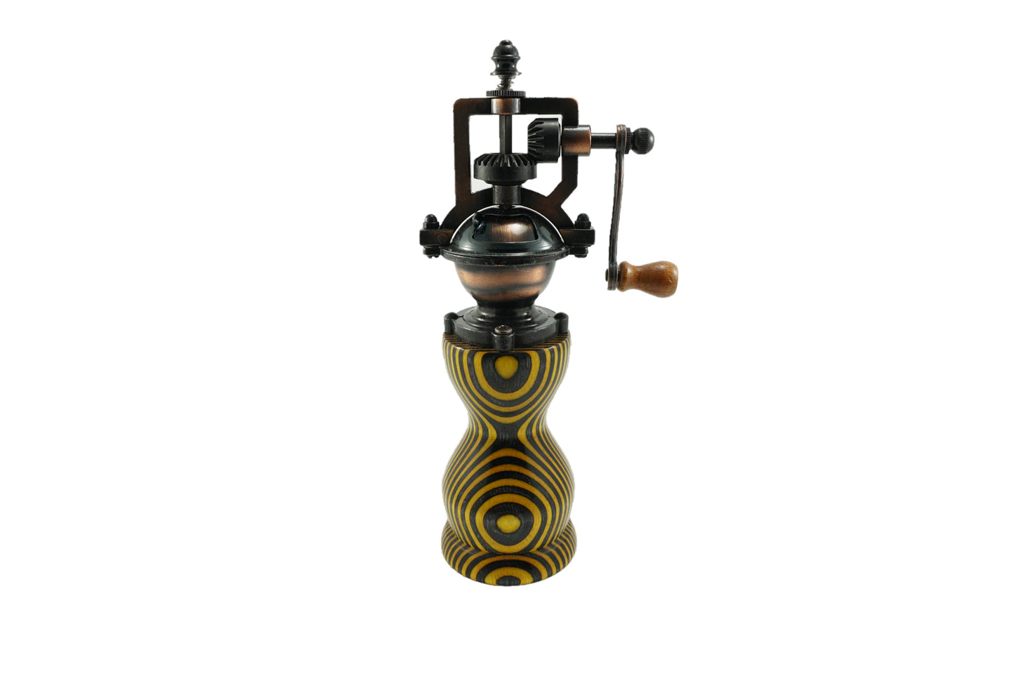Colored Wood Peppermill - Yellow, Black