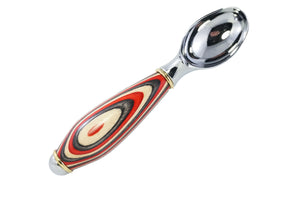 Colored Wood Ice Cream Scoop - Red, White, Black