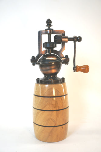 Natural Elm Barrel Peppermill