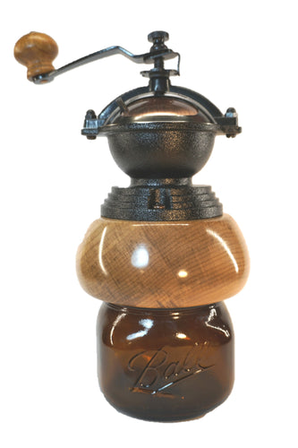 Figured Cherry Coffee Grinder