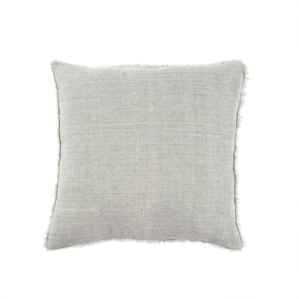 Lina Linen Pillow in Flint Grey