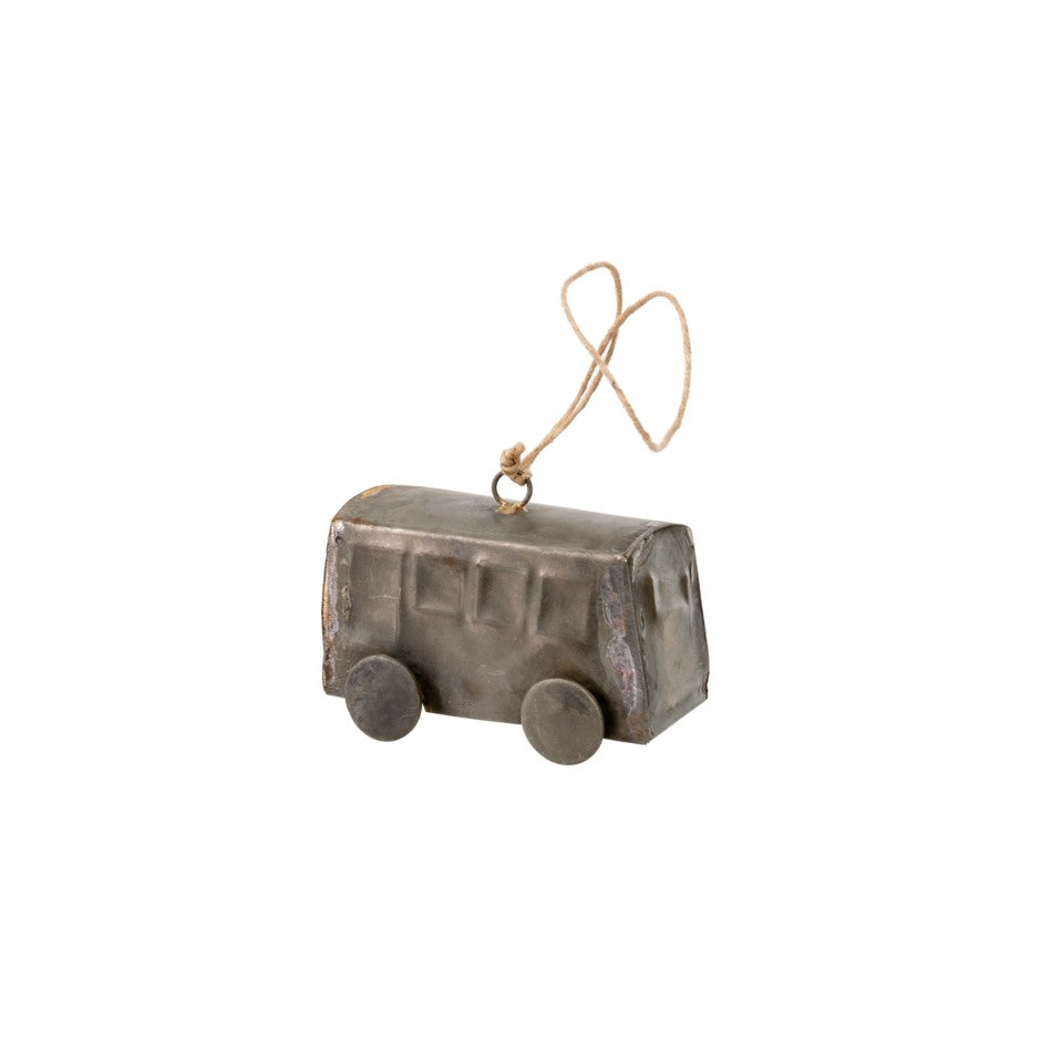 Galvanized Caboose Ornament