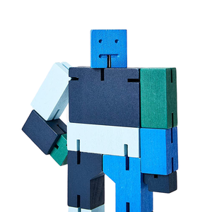 Small Cubebot in Multi Blue