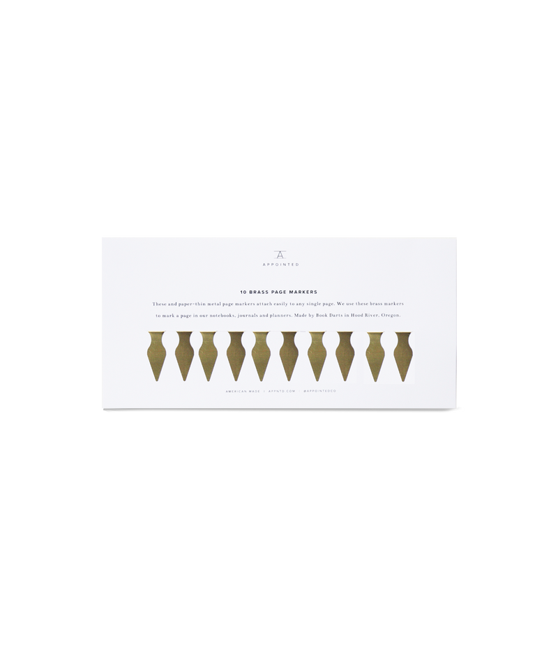 Appointed Brass Page Markers