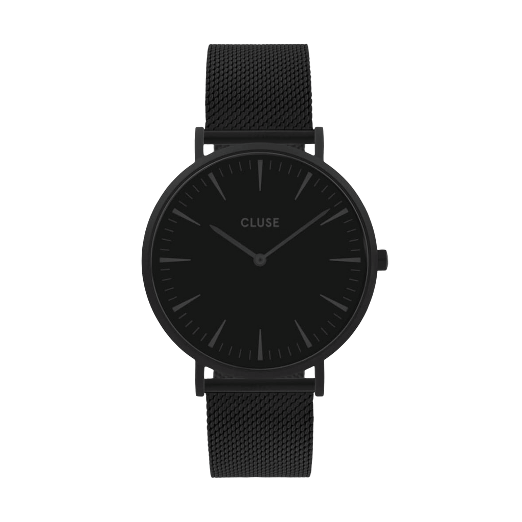 Cluse La Boheme Watch in Black Mesh