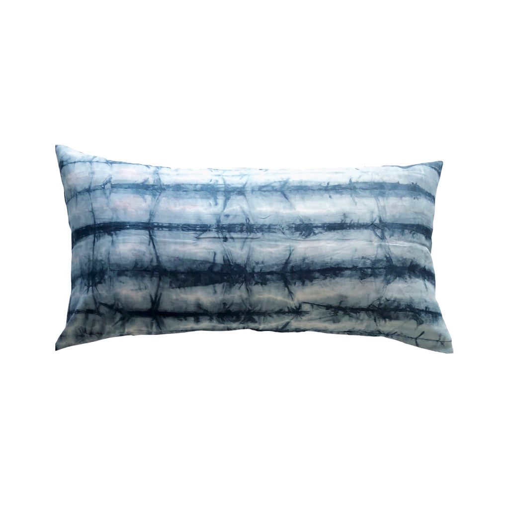 Kiska Textiles Shibori Bed Pillow in Teal