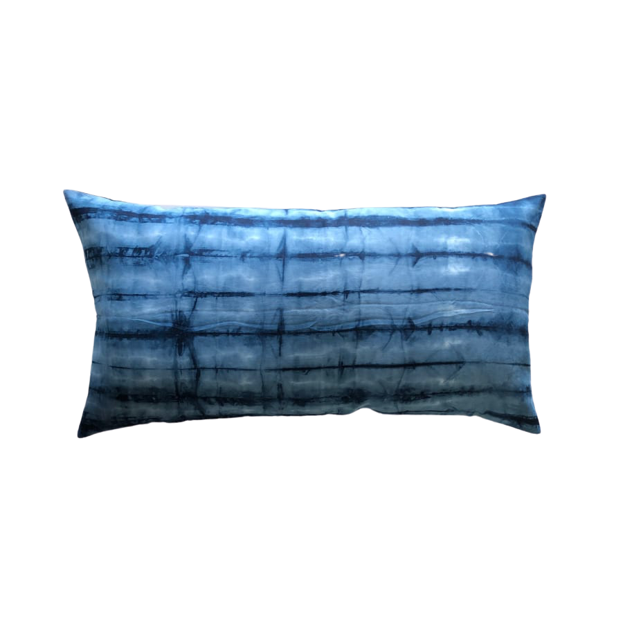 Kiska Textiles Shibori Bed Pillow in Indigo