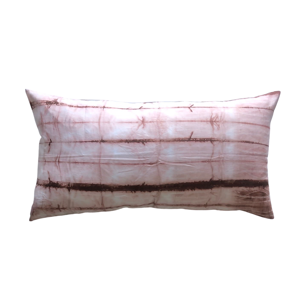 Kiska Textiles Shibori Bed Pillow in Rose Gold