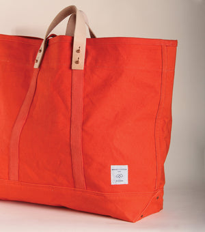 Immodest Cotton Tote in Persimmon