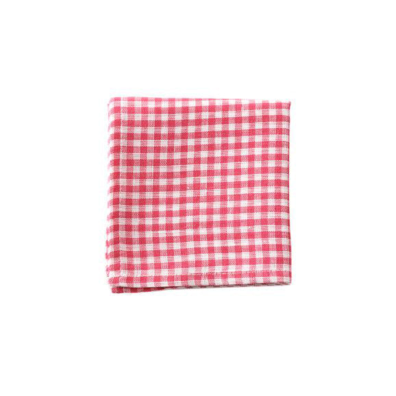 Handkerchief in Red/White Check