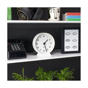 Echo Mantel Clock in White