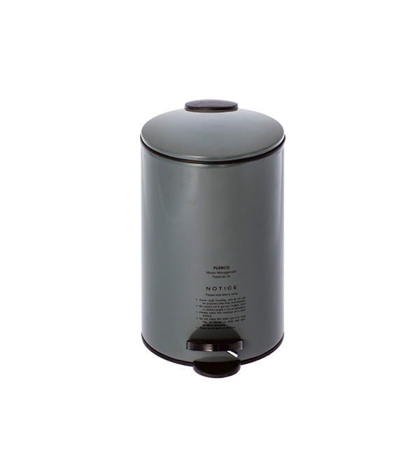 Gray Puebco Trash Can