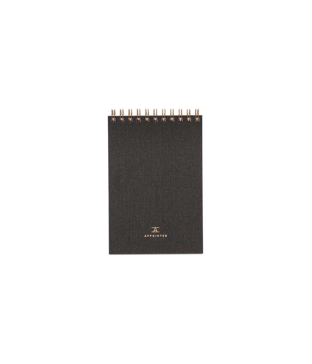 Appointed Pocket Notepad in Charcoal Grey